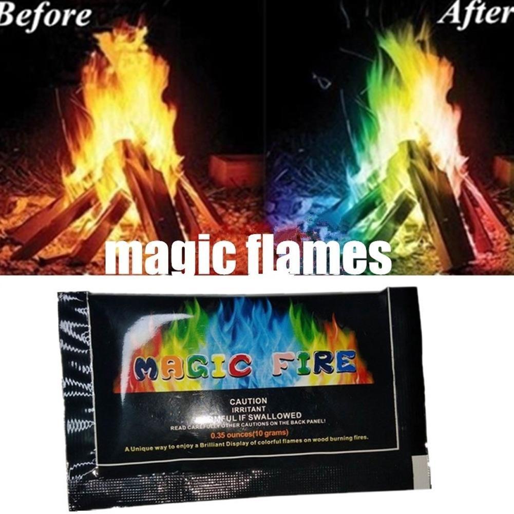 Mystical Fire Coloured Flames Powder Colour Changing Fire Bonfire-Party |  eBay
