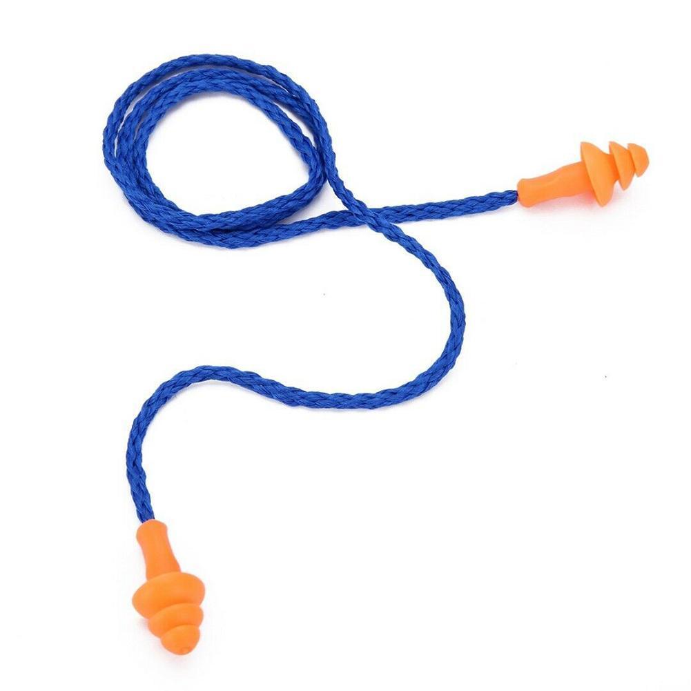 10x Sicherheit Soft Silikon Schnur Ohrstöpsel Gehörschutz Ohrstöpsel ST W0DE
