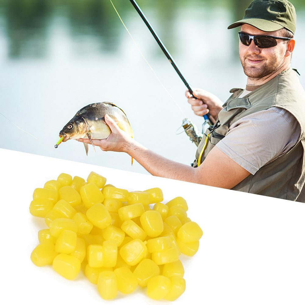11mm Yellow Corn Kernel Lure Soft Corn Road Sub-bait Soft Worm Soft Bait 50 A2M1