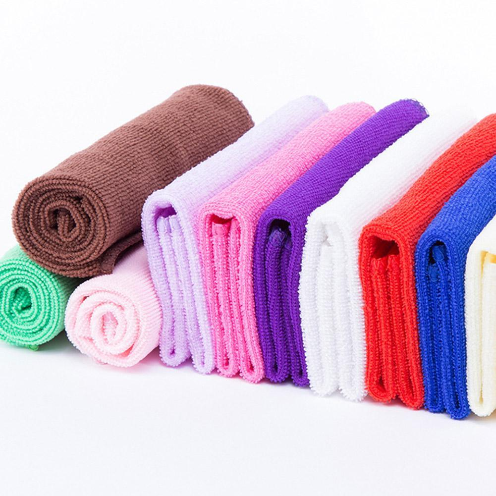 5pcs//Lot Square Microfiber Face Hand Car Cloth Towel House Cleaning 25*25cm