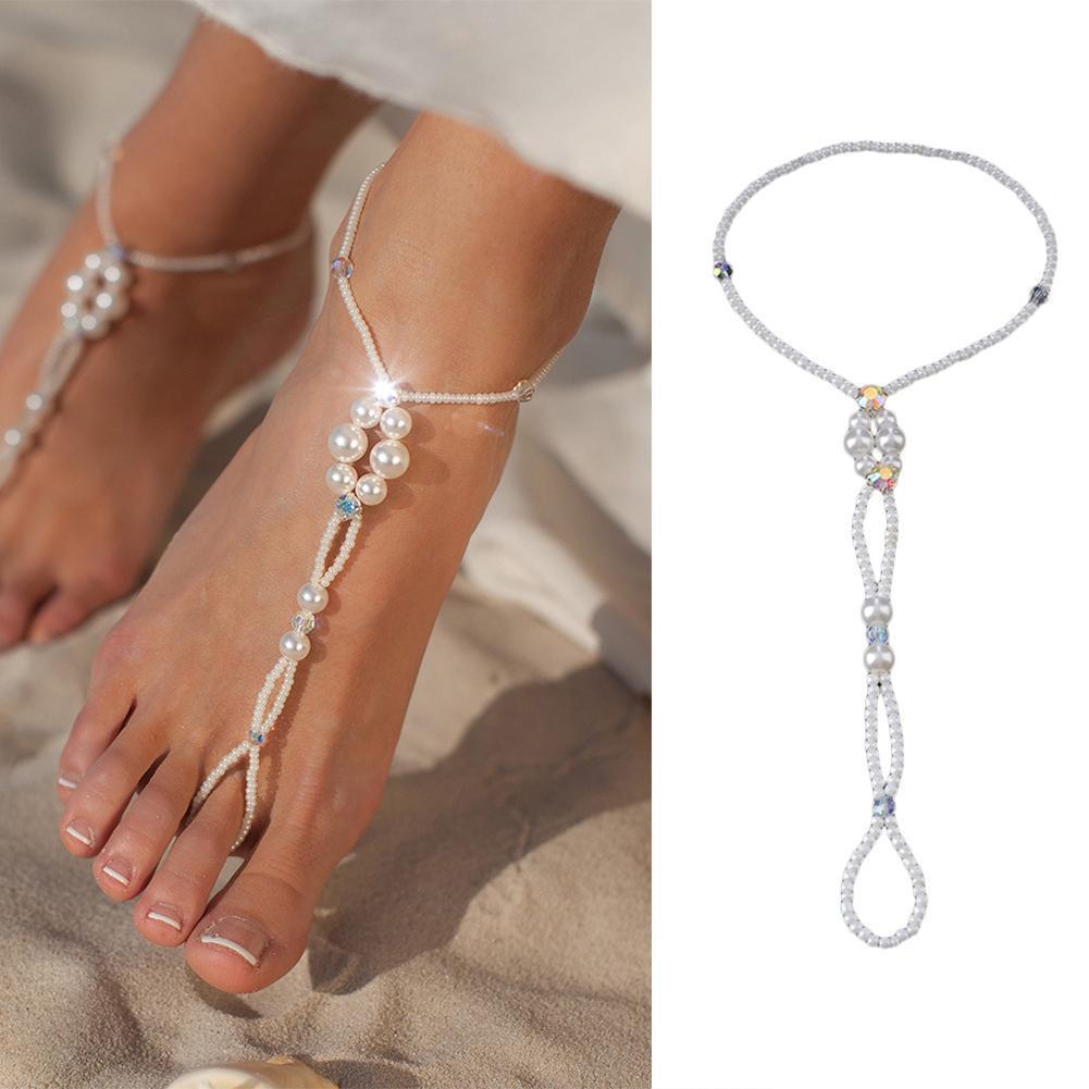 Fußkette silber Knöchel damen Schmuck 1PC Sandale Fußschmuck Barfuß Zehenring