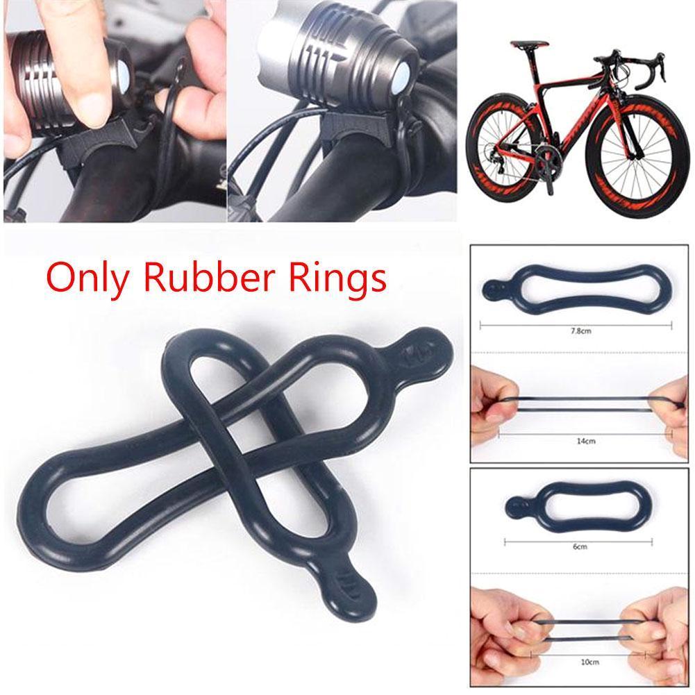 3x bicycle light mount holder accessories bike handlebar fixing elastic bands~l