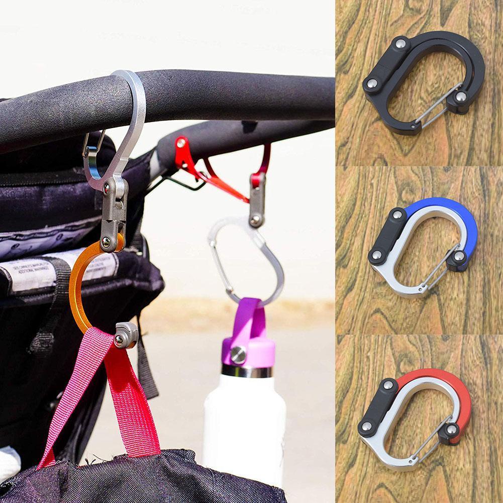 Heroclip Non-Locking Carabiner Rotating Hook Clip Backpacking Camping Hiking