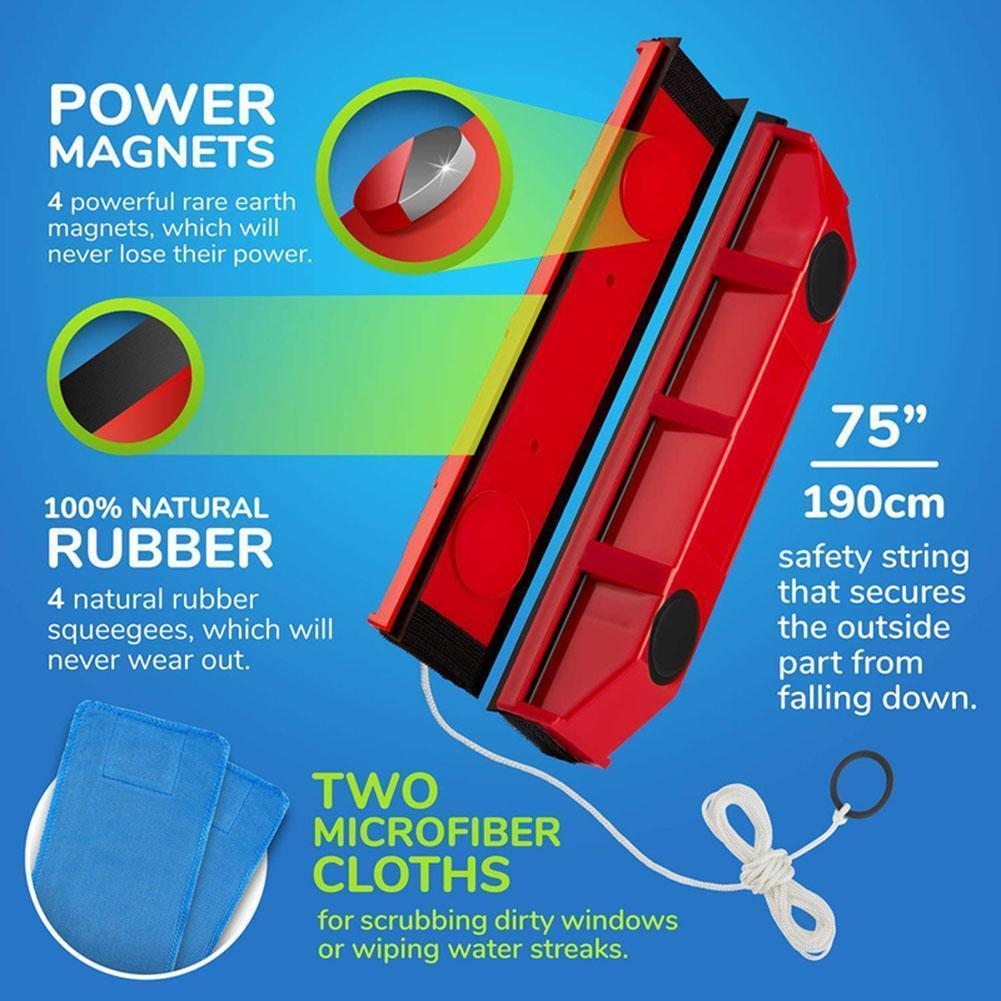 Glass Wiper Clean Magnetic Window Cleaner for Glazed Window Double Sided Brushes