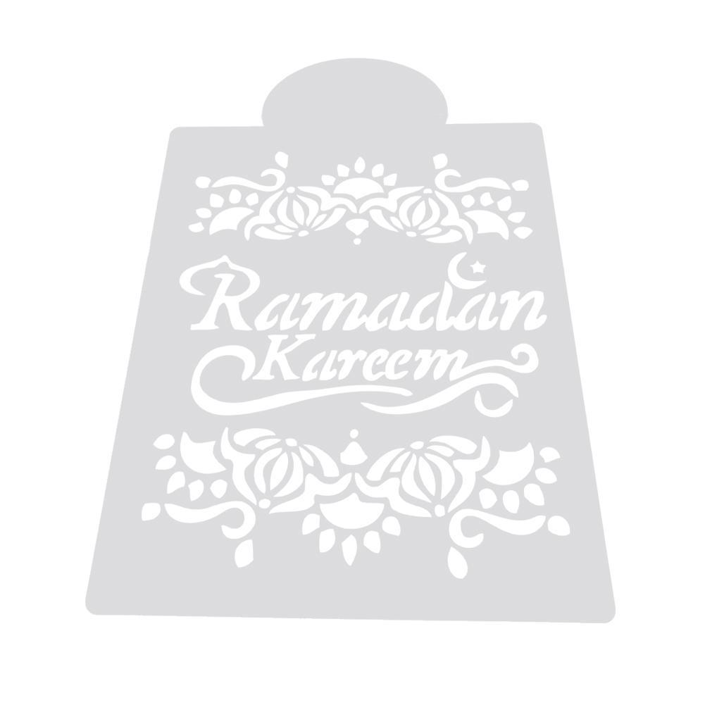 Moschee Eid Mubarak Ramadan Design Kaffee Schablonen Cookie Dekoration Werk I1H3