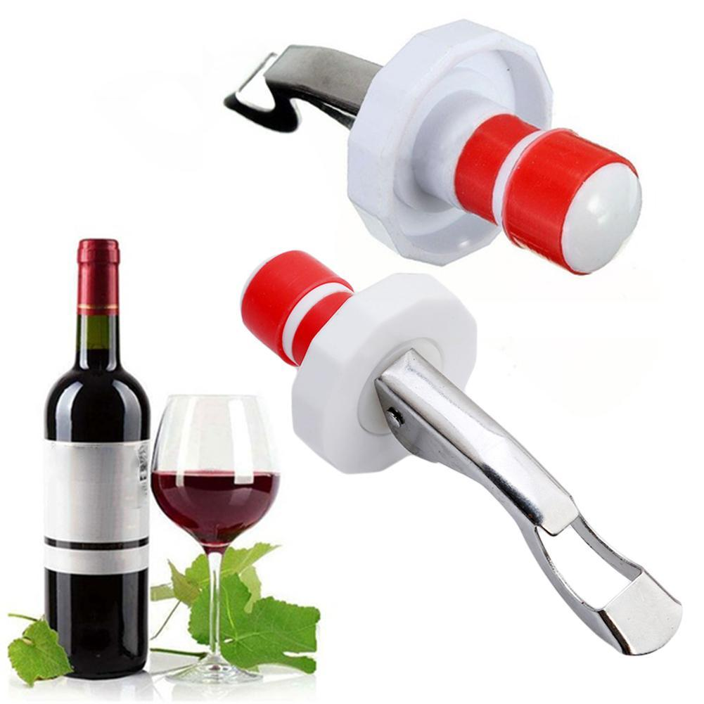 5Pcs Stainless Steel Bottle Opener Cork Silicone Stopper Wine Beer Bar Gadgets