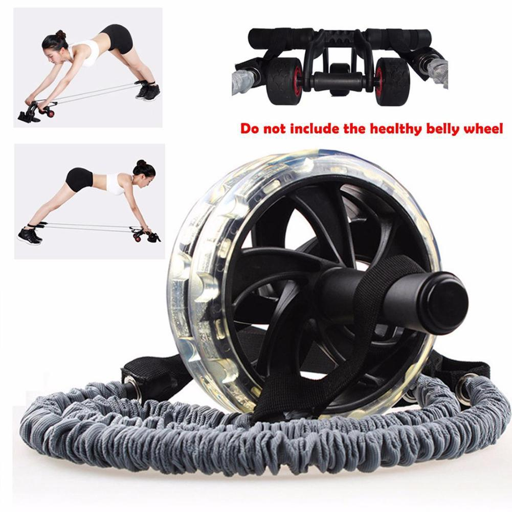 2 Zug Seil für Doppel Räder Roller Abdominal Slimming Fitness Equipment Werkzeug