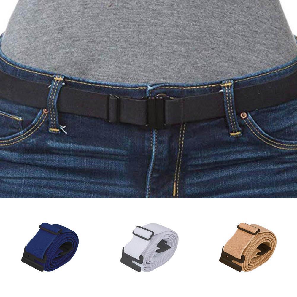 Lazy Man Buckle Elastic Waist Belt Stretchy Jeans Pants Waistband   Adjustable
