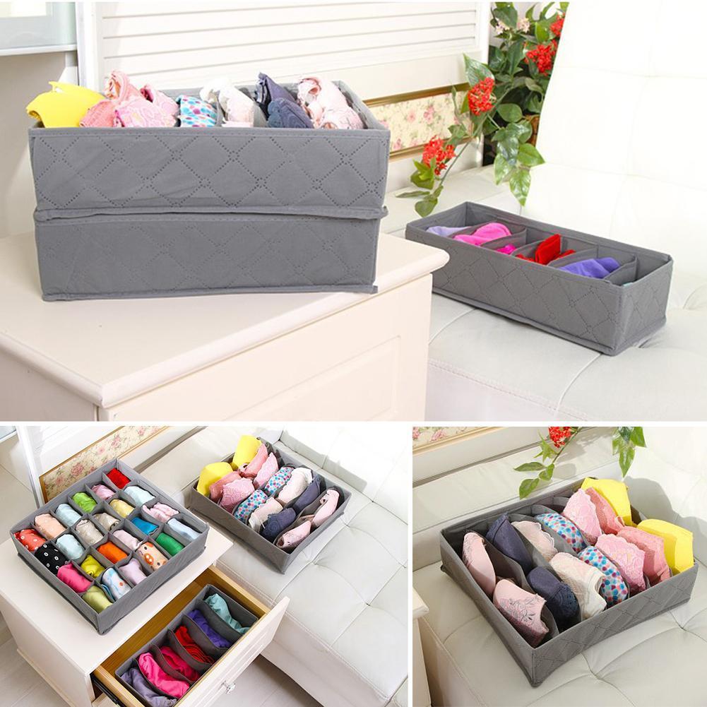 3X Closet Organizer Box für Unterwäsche BH Socken Krawatten Schals Speicher neu
