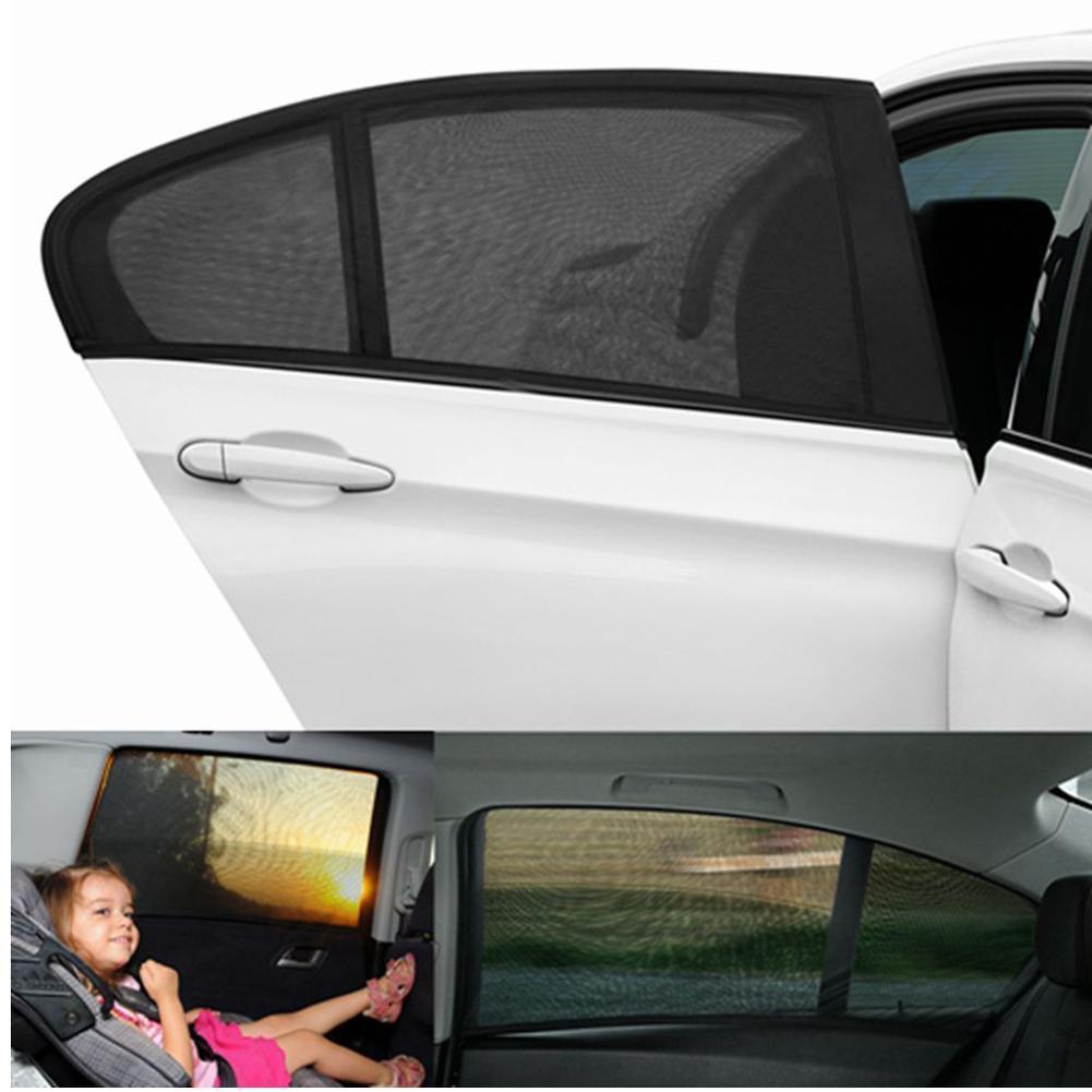 set auto side rear window sunshade sunscreen visor shield Fast 5pc