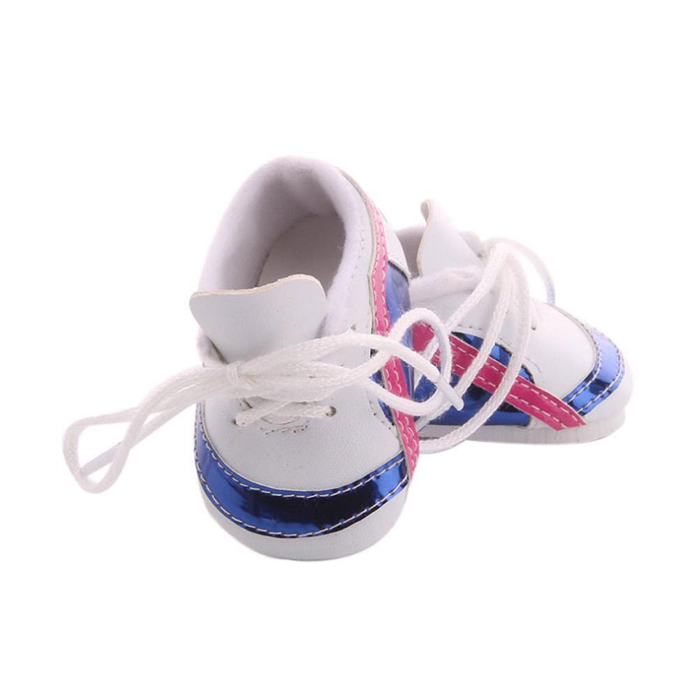 Casual Canvas Plimsoll Sneakers Sports Shoes for 18inch Dolls 3 Colors Choose#GD