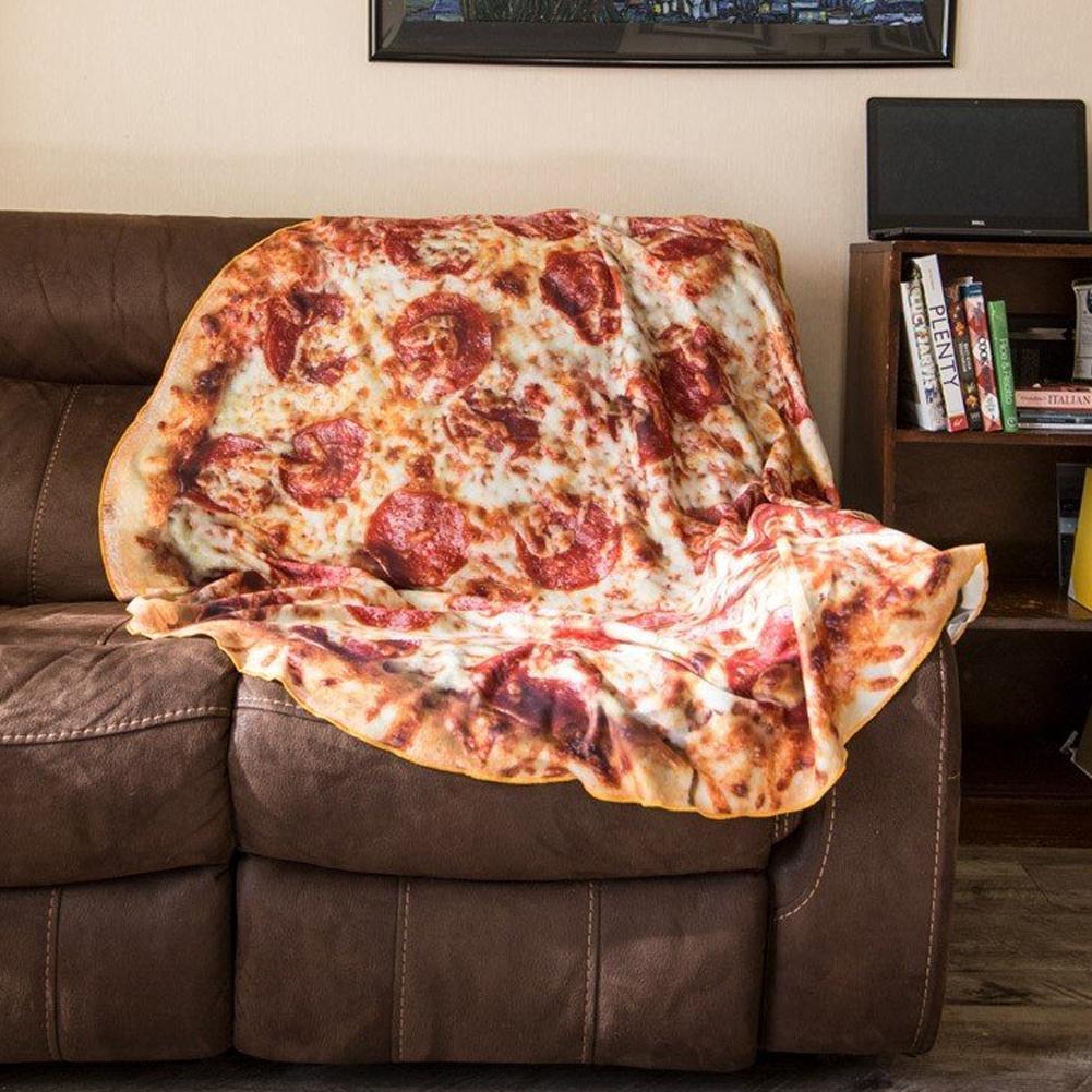 Runde Burrito Pizza Decke Tortilla Bettdecke Warmes Sofa Weiche Flanelldecke