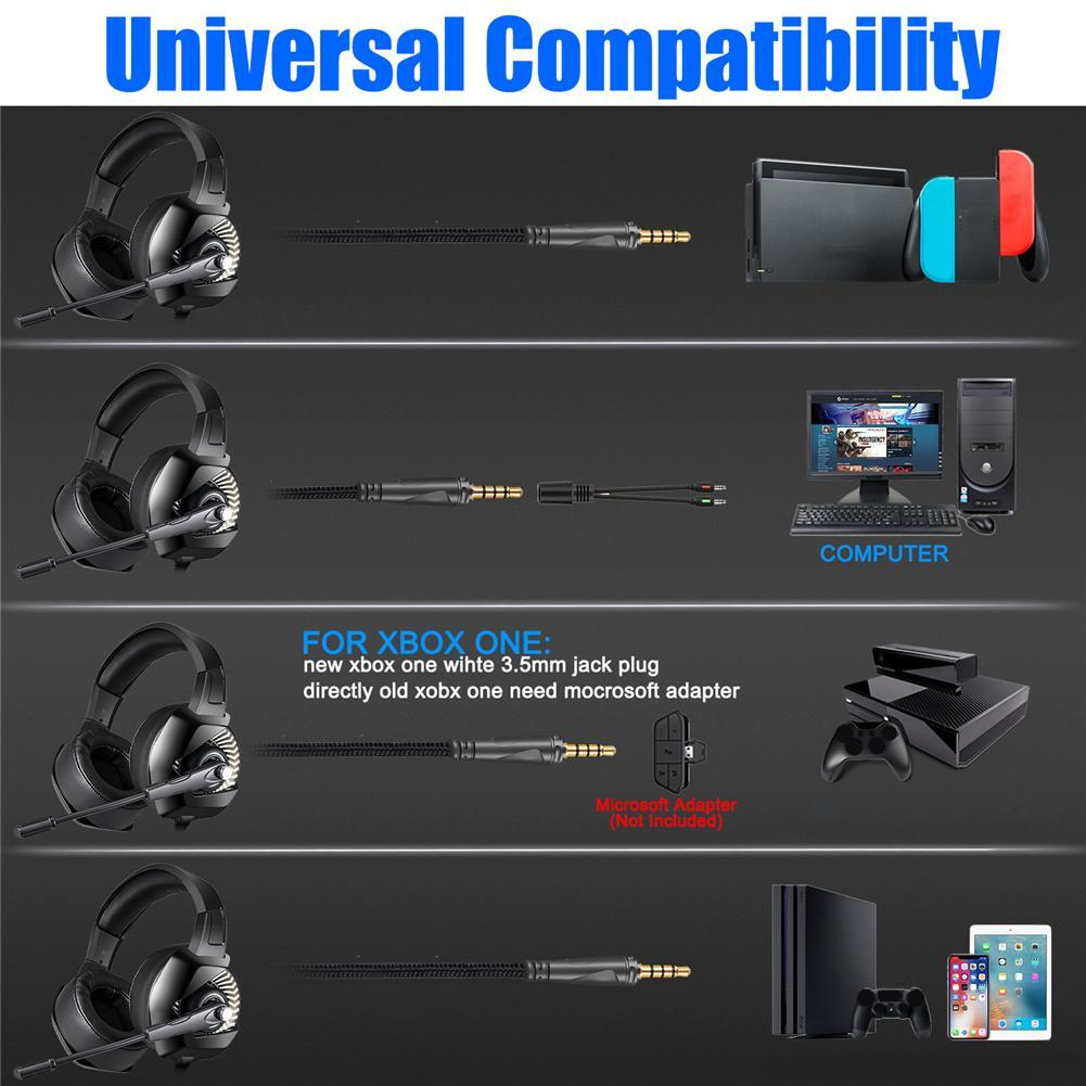 Details about ONIKUMA K6 Gaming Headset Casque Stereo Headphone Earphone  Mic for Xbox One Hot
