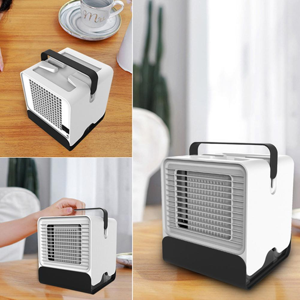 Air Conditioner Fan Mini Cool Bedroom Desk PortableCube Water USB Silent JI