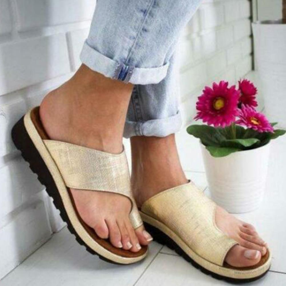 Women Ladies Comfy Platform Sandals PU LEATHER with