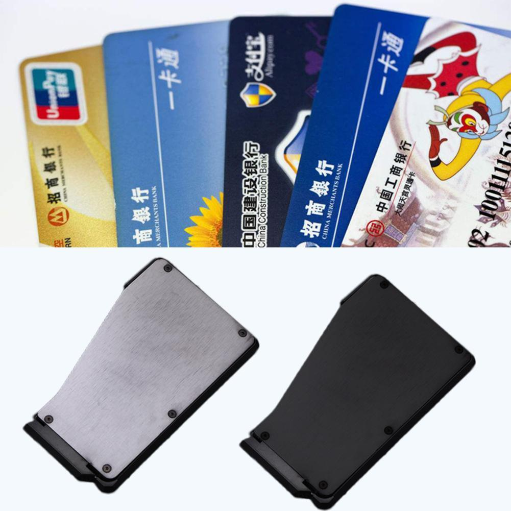 6-10 cards,it/'s not Fantom 10 Wallet Black Aluminum Quick Access Slim Wallet