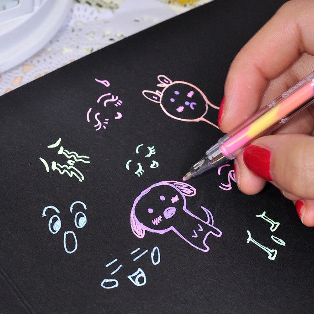 5 Stücke 6 Farben Kreative Textmarker Gel Stift Studenten Bürobedarf Schrei V4R9