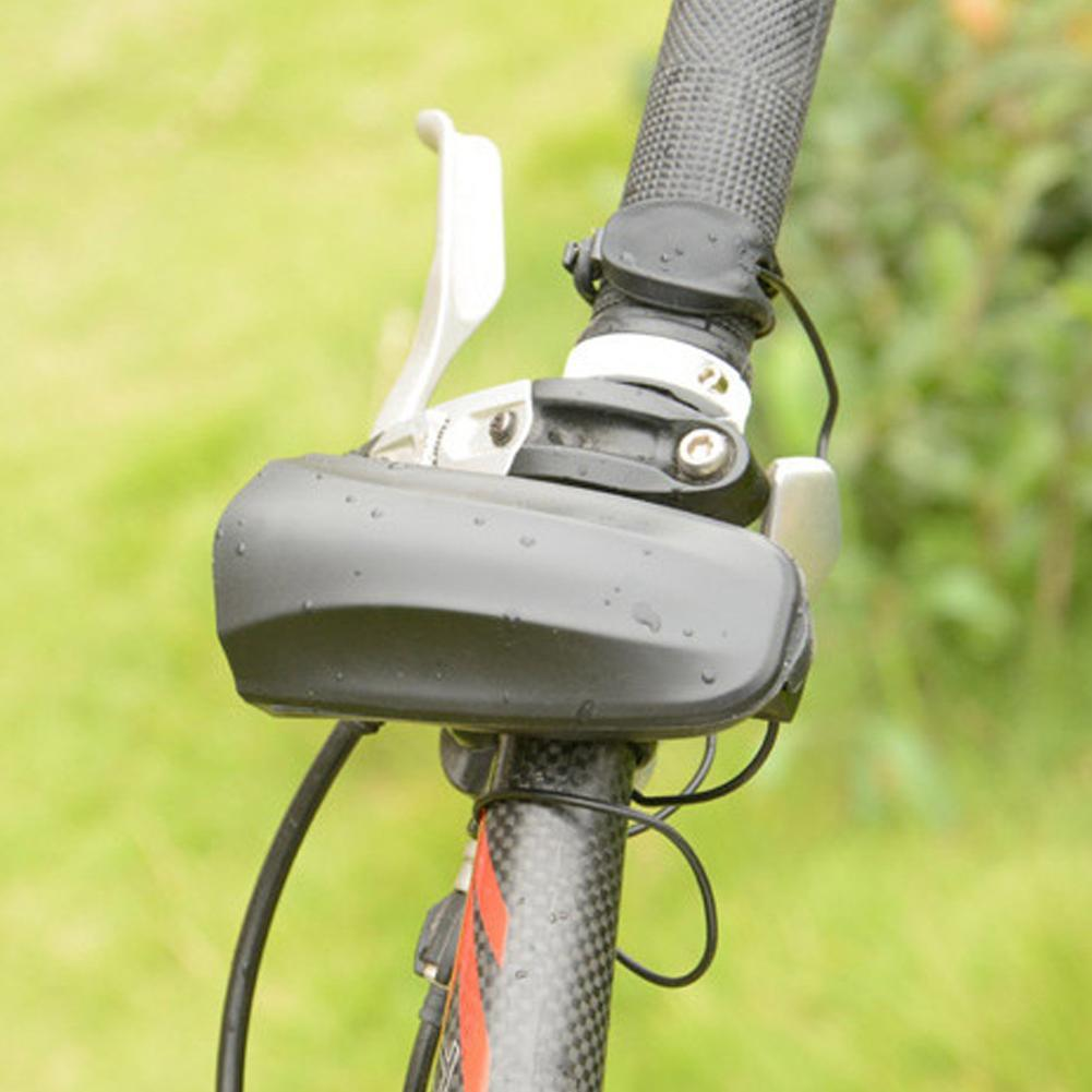 Black Bike Bicycle Double Rubber Ring Fixed Handlebar Sale Ring Horn Bell L M2O9