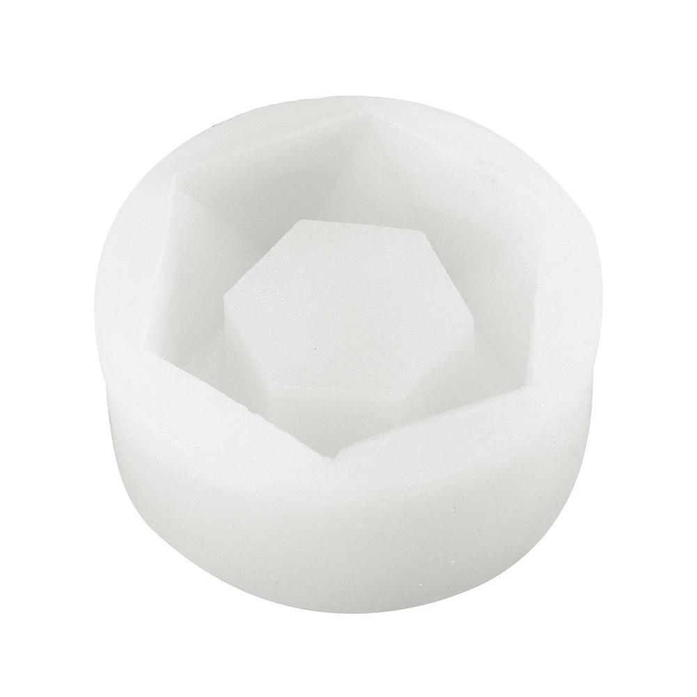 Hexagon Flower Pot Silicone DIY Garden Planter Concrete New Mould Vase Soap X3M4