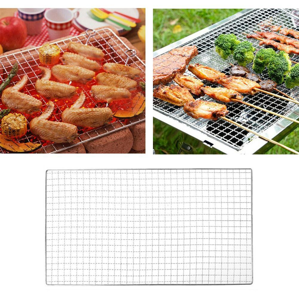 Stainless Steel BBQ Barbecue Grill Grilling Mesh Wire Net Cooking 2 Size Super