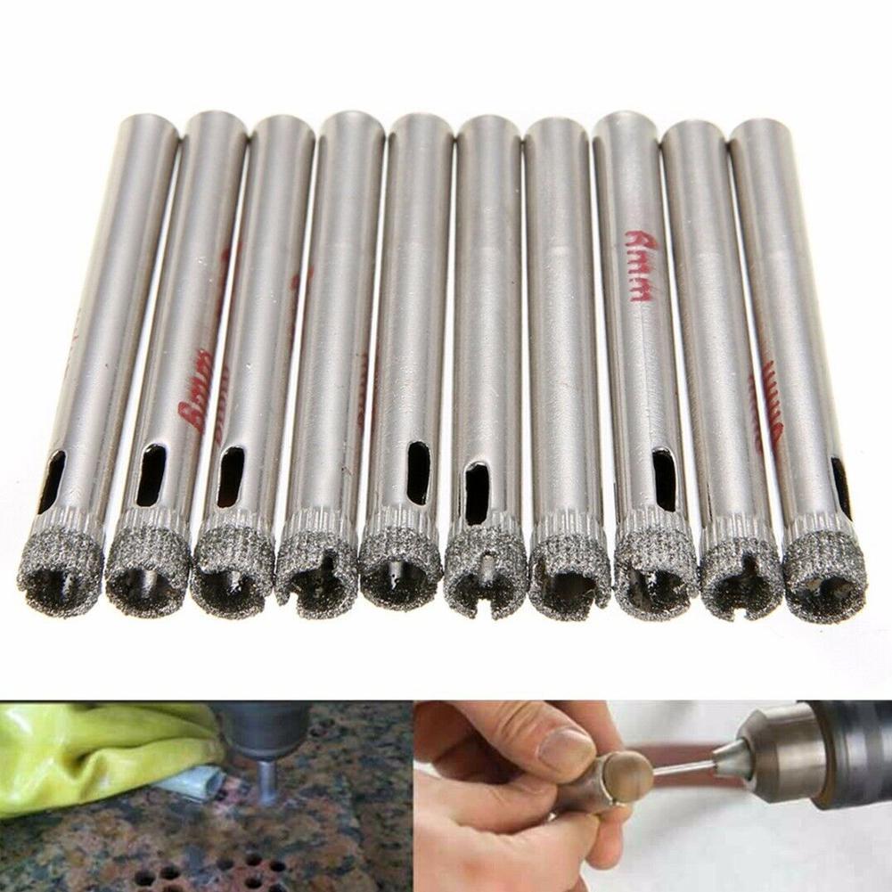 5pcs 6mm Emery Glass Drill Set Tile Ceramic Marble Hole Opener Bead polisher