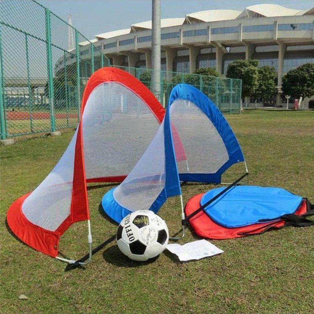 Pop Up Football Gate Goal Net Portable Fold Kid Outdoor Soccer Play TrainingToyG