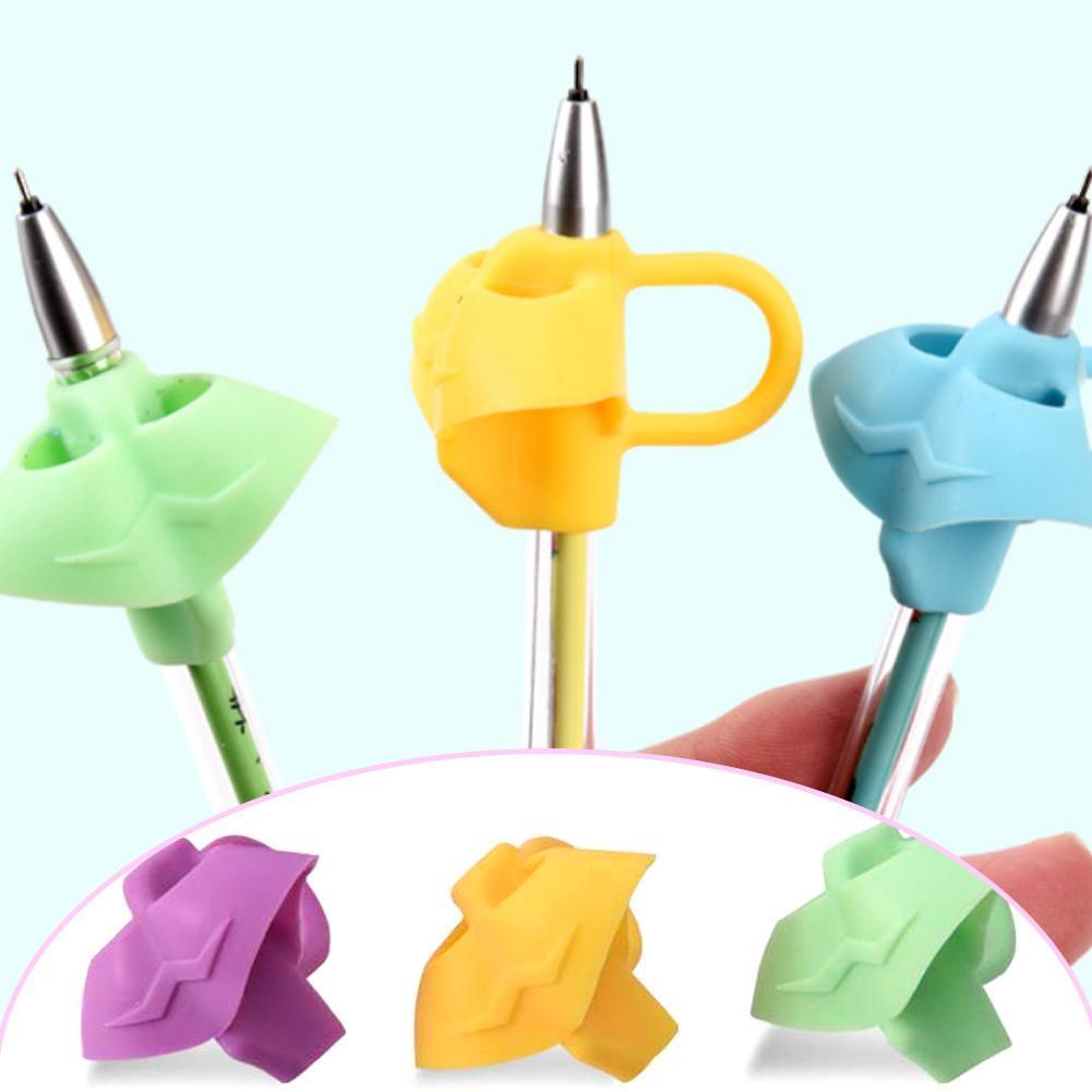 3 Stücke Kinder Bleistifthalter Stift Schreibhilfe Grip Posture-Correction I6W8