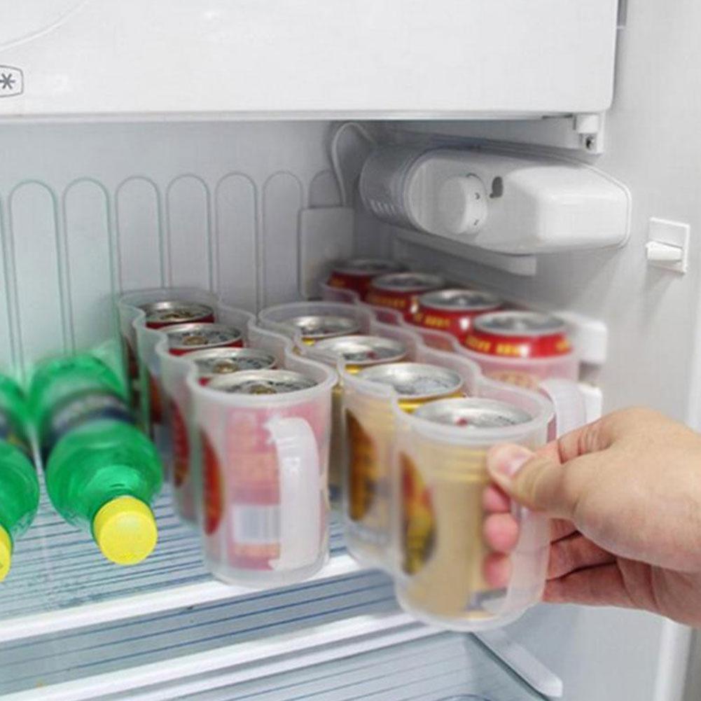 Kühlschrank Space Saver Conatainer Getränkedosen Halter Aufbewahrungs Box Rack