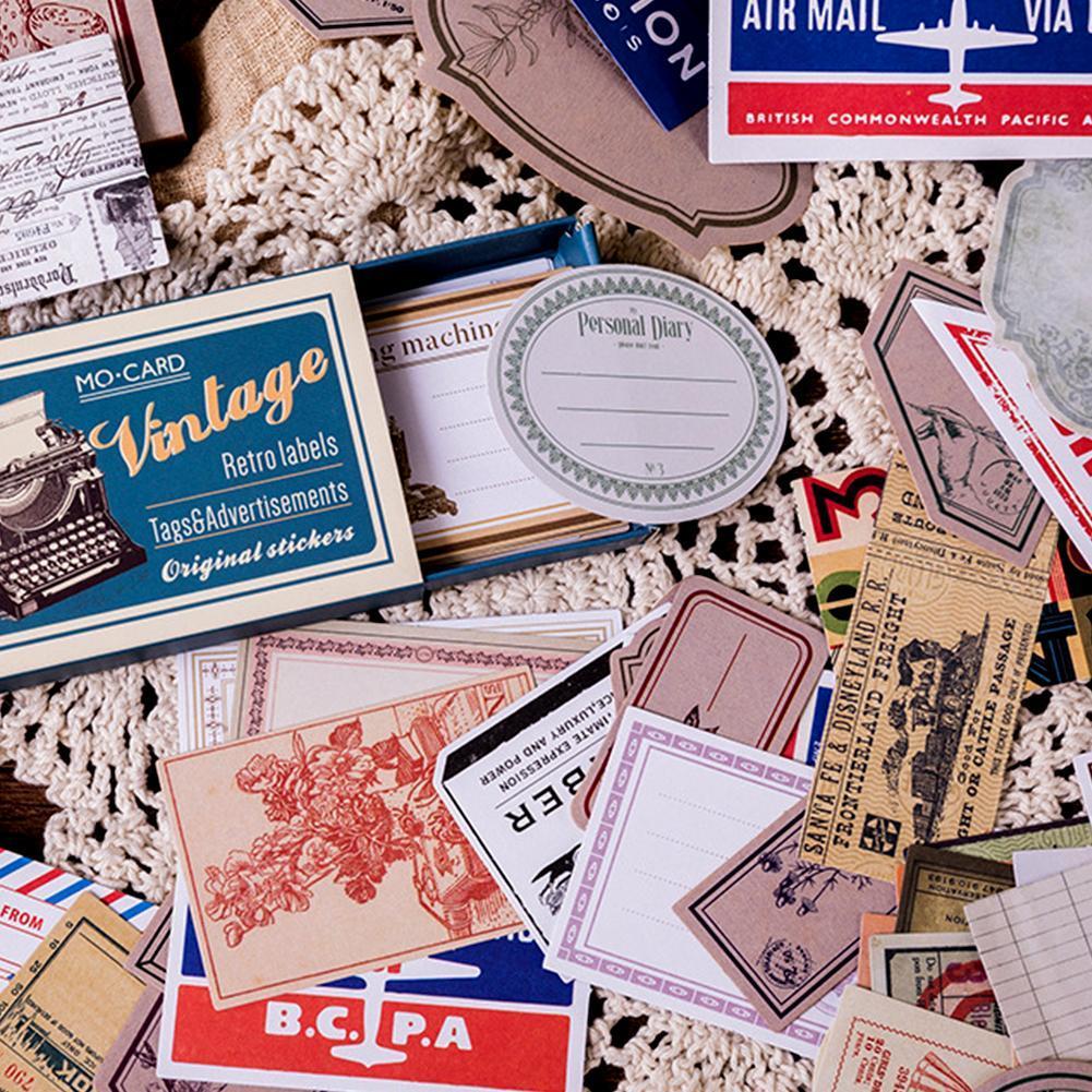 Label  Retro Matchbox Scrapbooking    Paper Sticker Vintage Stamp Stickers