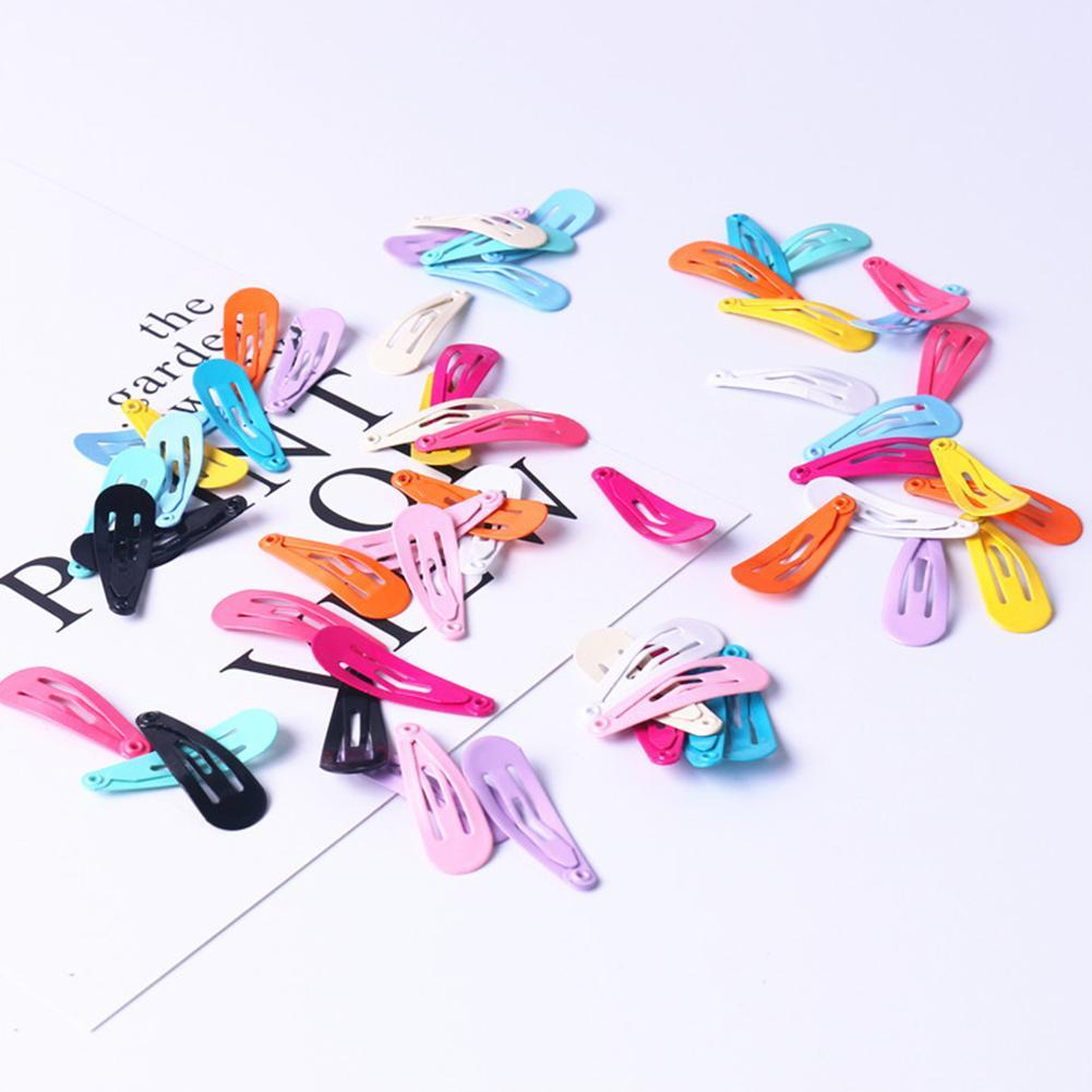 "50pcs Assorted Boutique Baby//Girl Hair Bows Clips 1.8/""//4cm Barrette Hairpins"