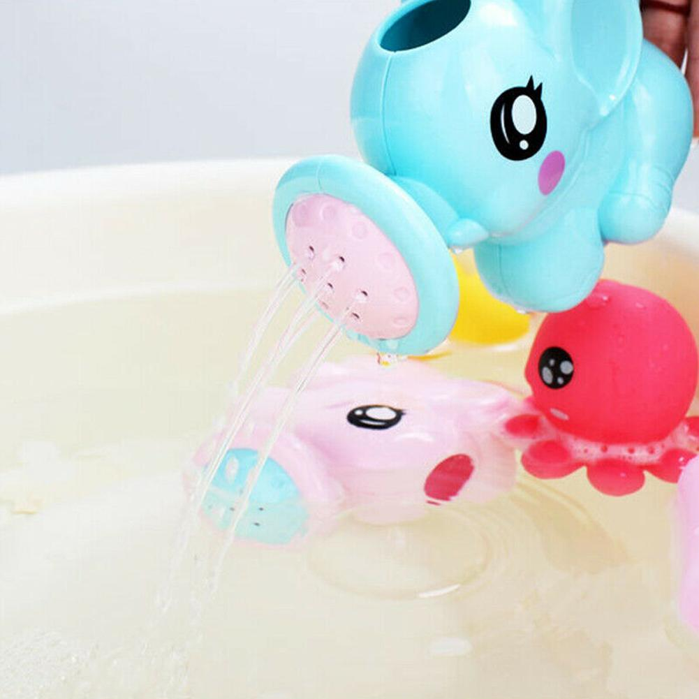 Baby Bath Shower Cartoon Elephant Sprinkler Cute Toy Parent-Child Interaction O3
