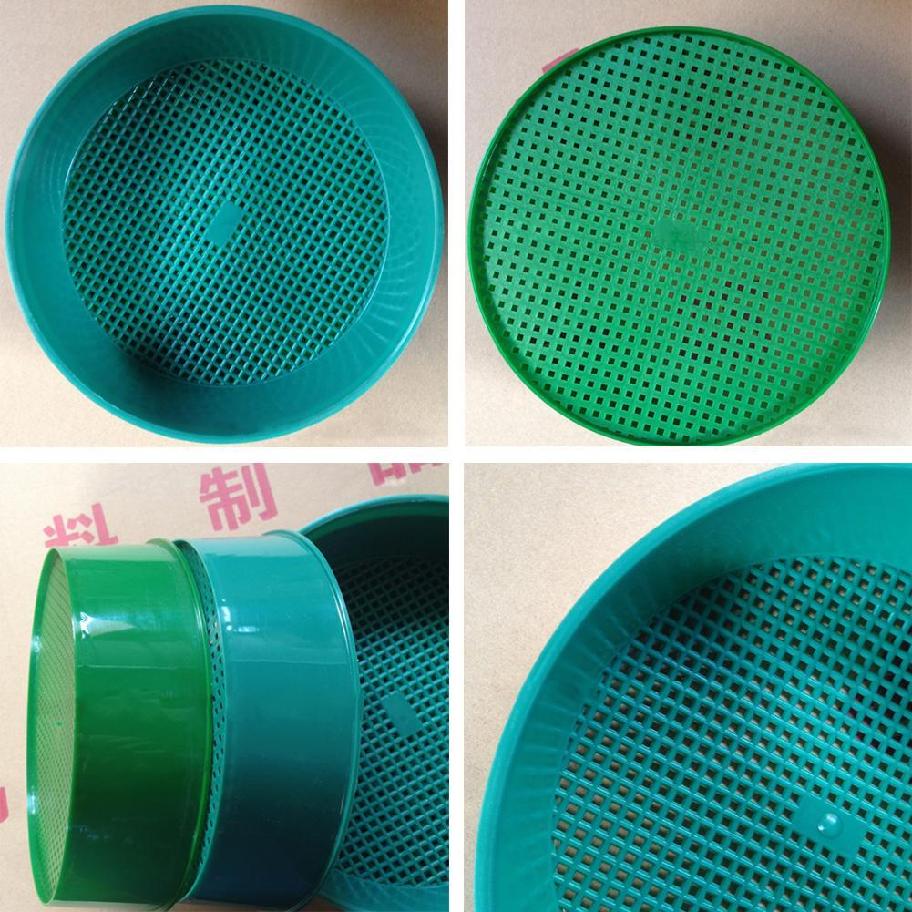 Large Plastic Garden Sieve 10mm  Soil Stone Seed Compost Sieve Black or Green