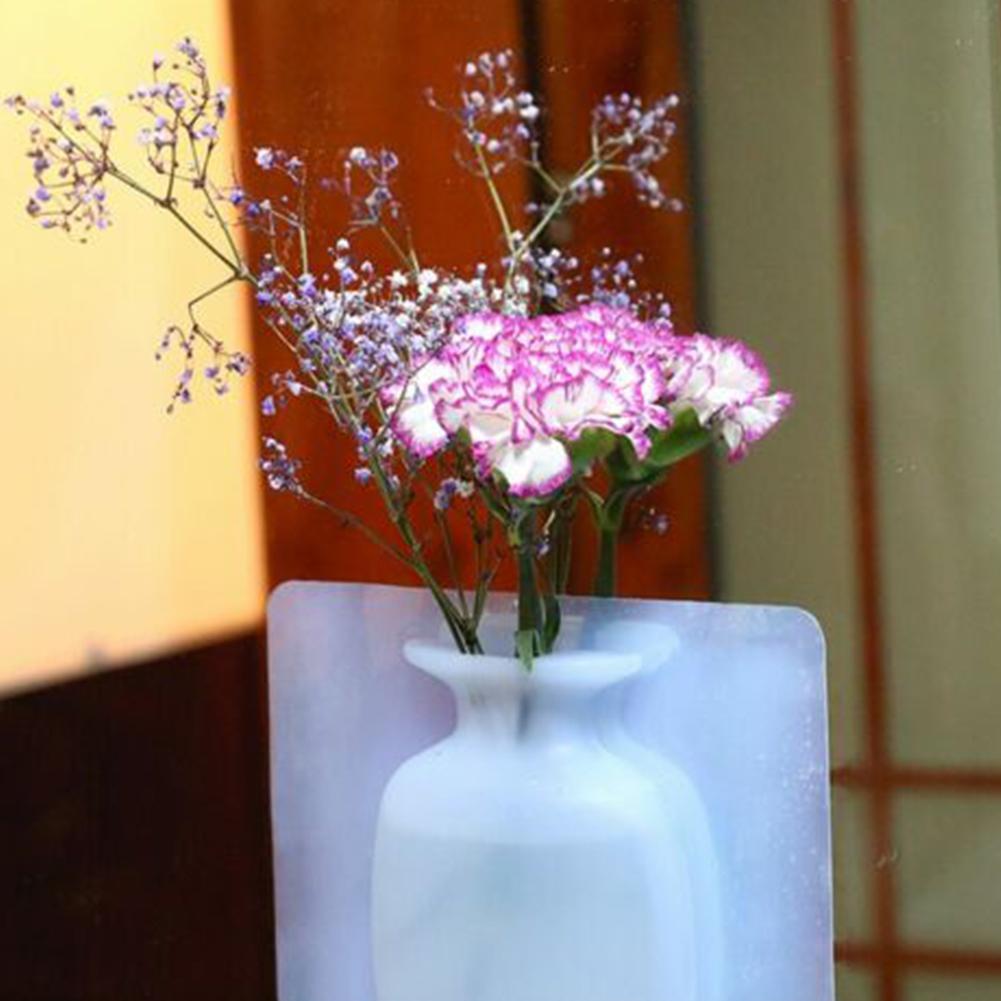 Hängende Silikon Vase Blumenvase Pflanze Silikon Wandvase Zimmer deko Wand