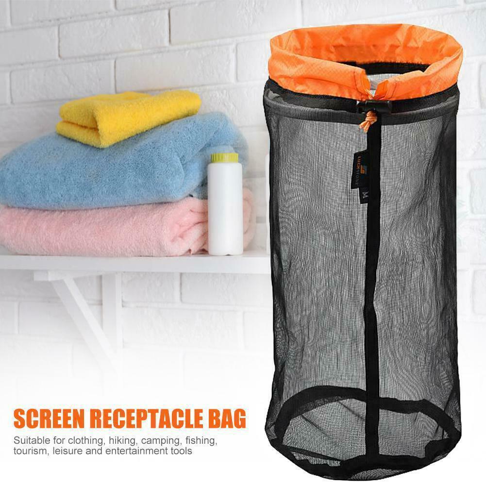b1ad1e3666ca Ultralight Mesh Stuff Sack Drawstring Storage Bag Travel Camping ...