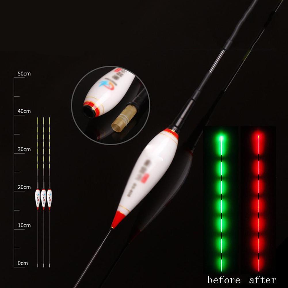 Fischen Luminous Float batteriebetriebene LEDFloat für Dark Water Night FishingY