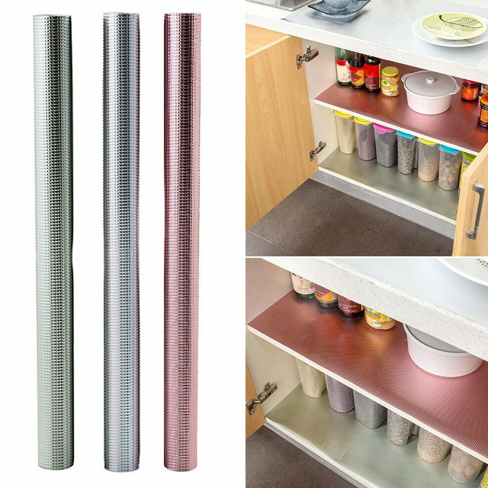 Details about Waterproof Kitchen Cabinet Drawer Liner Mat Table Shelf  Non-Slip Placemat Good