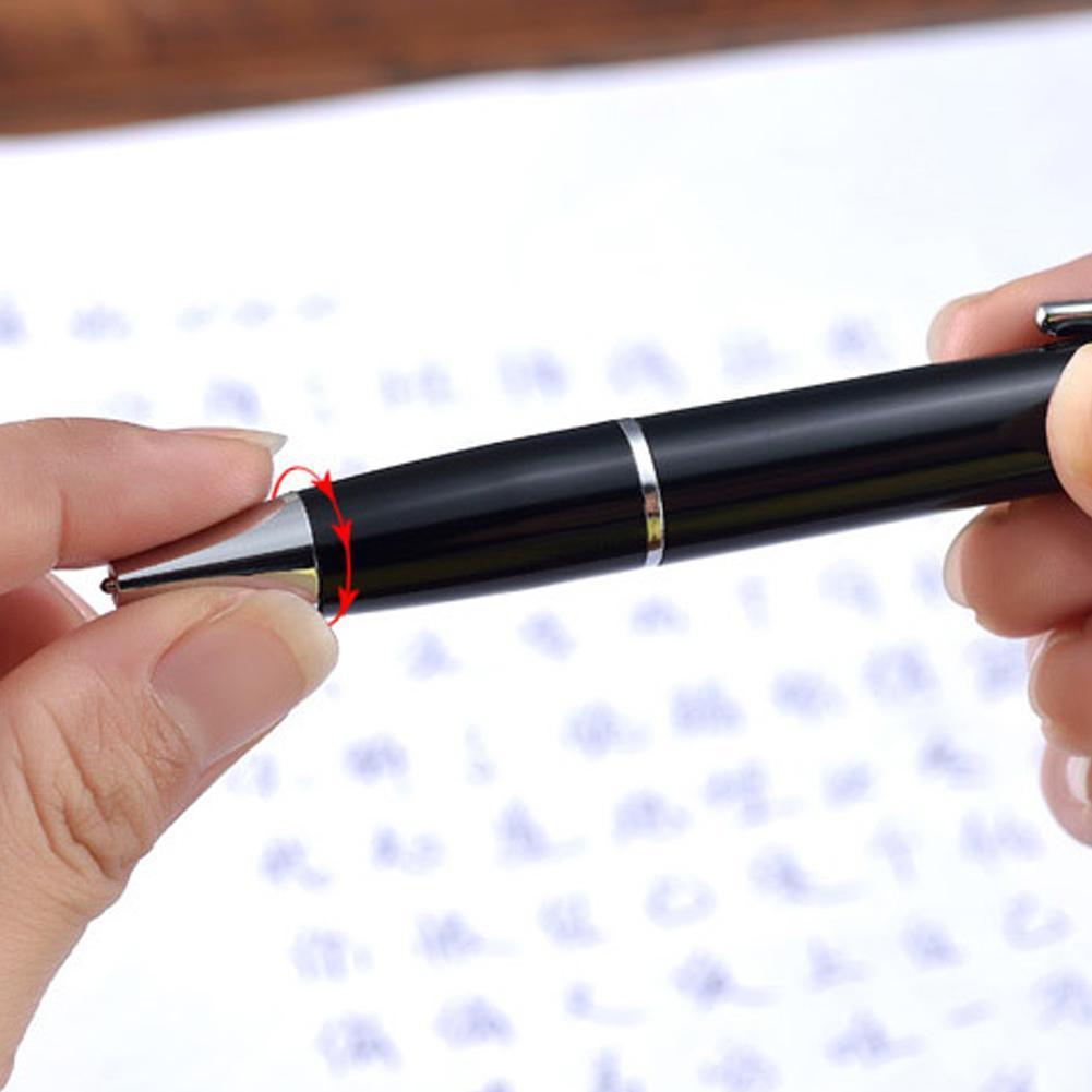 Neu Pfauenfedern schwarz Tinte Gel Kugelschreiber Stift Zufällige Lieferu II33