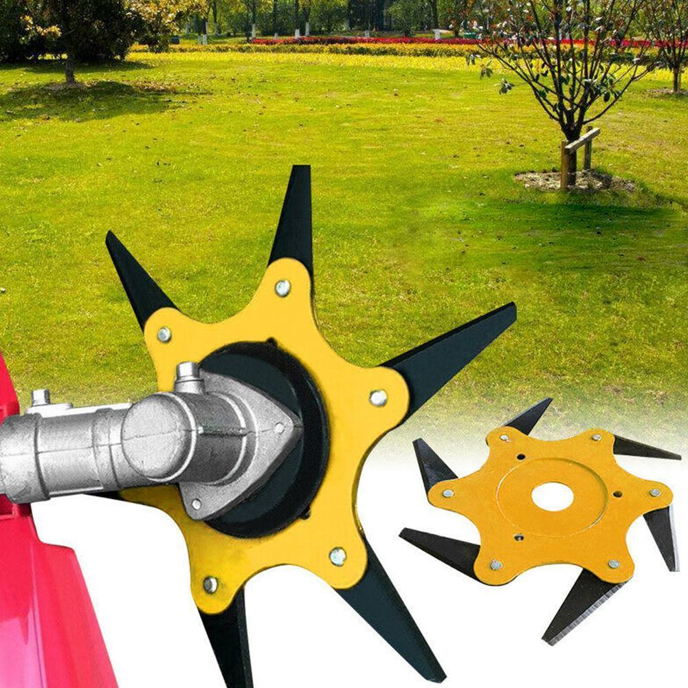 6 Stahlklingen Rasiermesser Rasenmäher Grasfresser Trimmerkopf Freischneide Neue