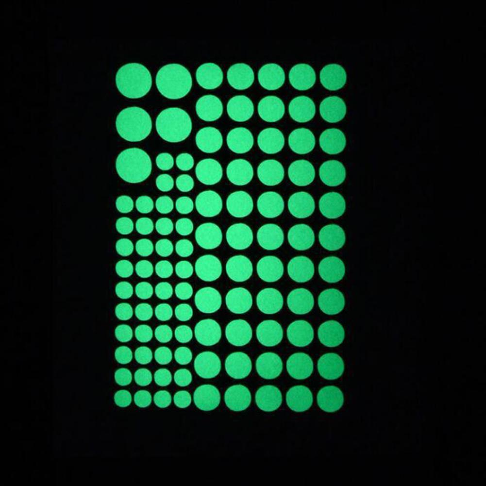 407pcs Runde Dot Leuchtende Wandaufkleber Im Dunkeln Stern Kinderzimmer leu R1M7