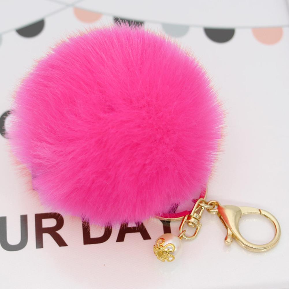 Echt Kaninchen Pelz Schlüsselring Tasche Charm Schlüsselanhänger Geschenk 41567