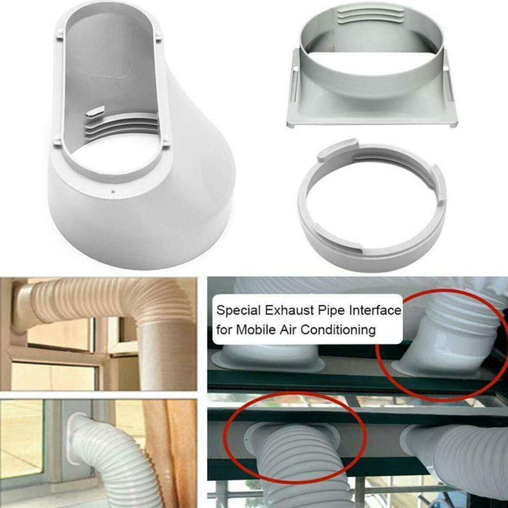 Decdeal Conector Interfaz Tubo Flexible P-Ipe Conducto de Desag/üe Ventana Aire Acondicionado Port/átil 150 mm Bocca Plata