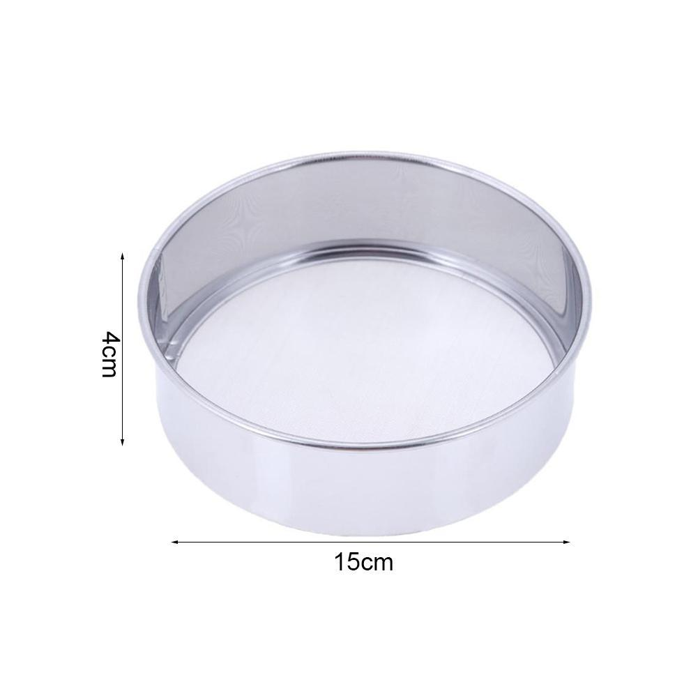 Oil Strainer Flour Colander Sifter Sieve Kitchen Stainless Wire Mesh Steel Q5F4