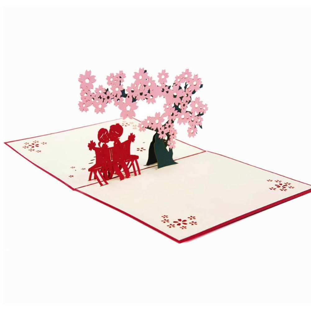 Handgefertigte 3D Gruß Weihnachten Pop Up Postkarten Geburtstagsgeschenke