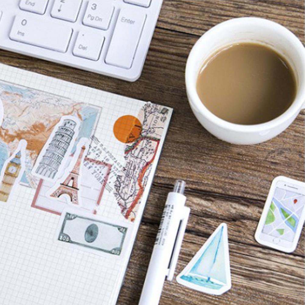 Die Reise Aufkleber Tagebuch Papier Dekoration P5G2 Kasten Eine Person 45 Pc