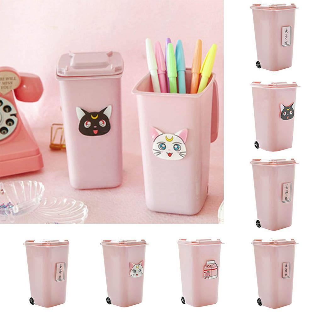 Details about Mini Plastic Desktop Garbage Basket Table Waste Bin Home  Office Trash Can