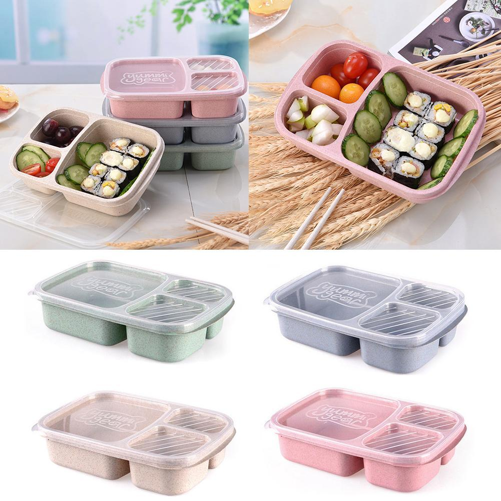5 Grid Microwave Food Fruit Bento Lunch Box Kids Adult Meal Picnic Storage DSED