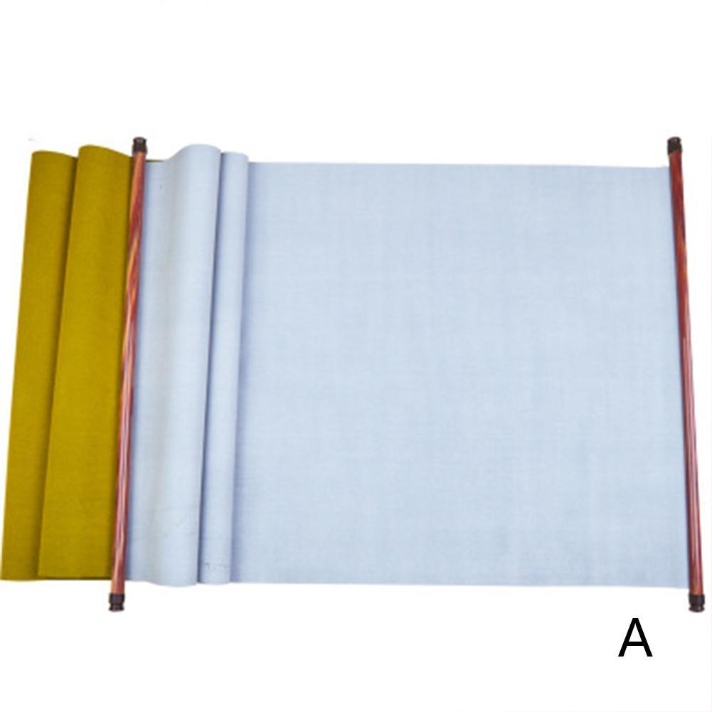 Reusable Chinese Magic Cloth Water Paper Calligraphy Fabric Book Notebook Chinese Calligraphy Brush Sumi Set White, 150x43cm//59x16.9 Chinese Magic Cloth Water Paper