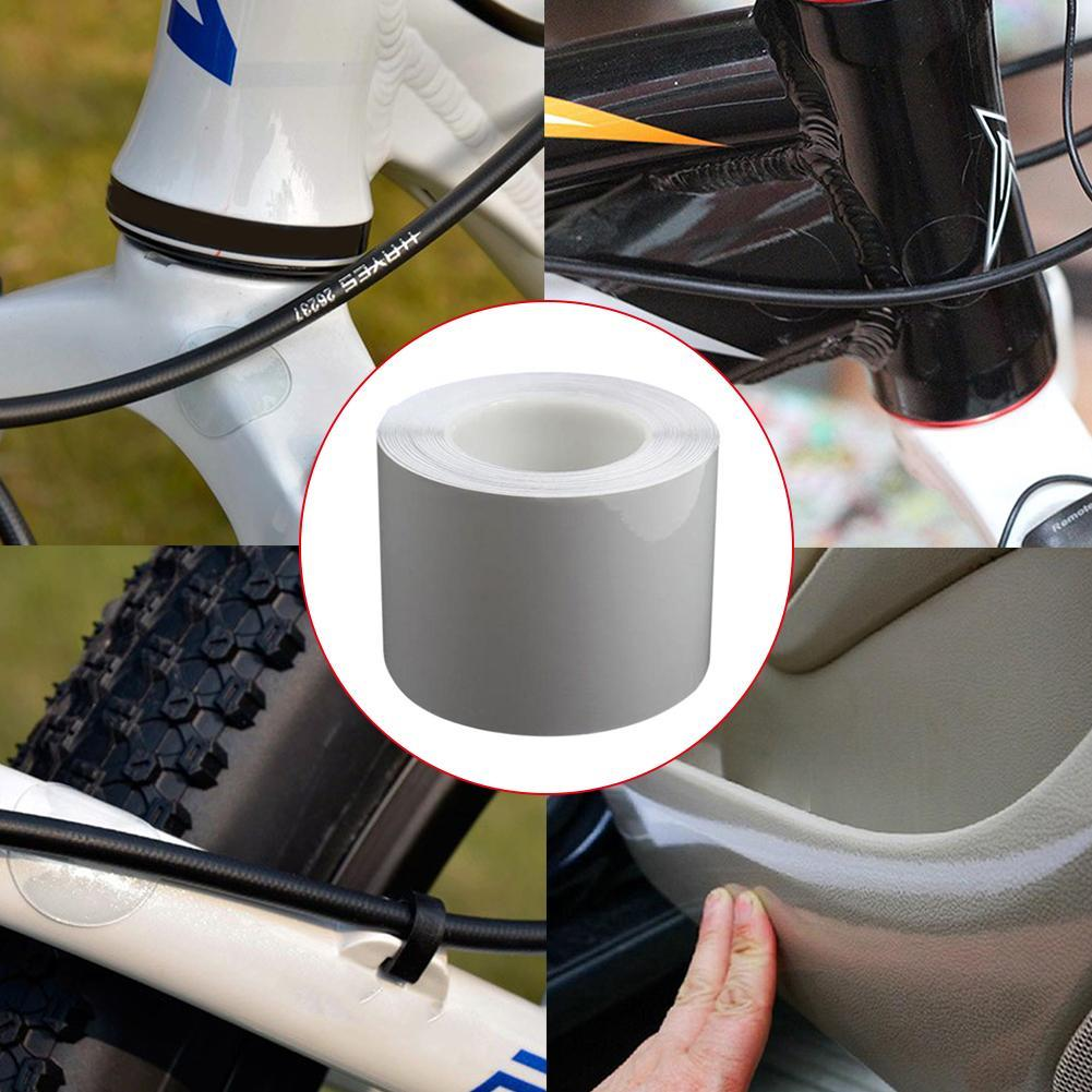 15*100cm Bike Bicycle Frame Protector Clear Wear Surface F5X3 Tape 60℃ V7G2 A6S4