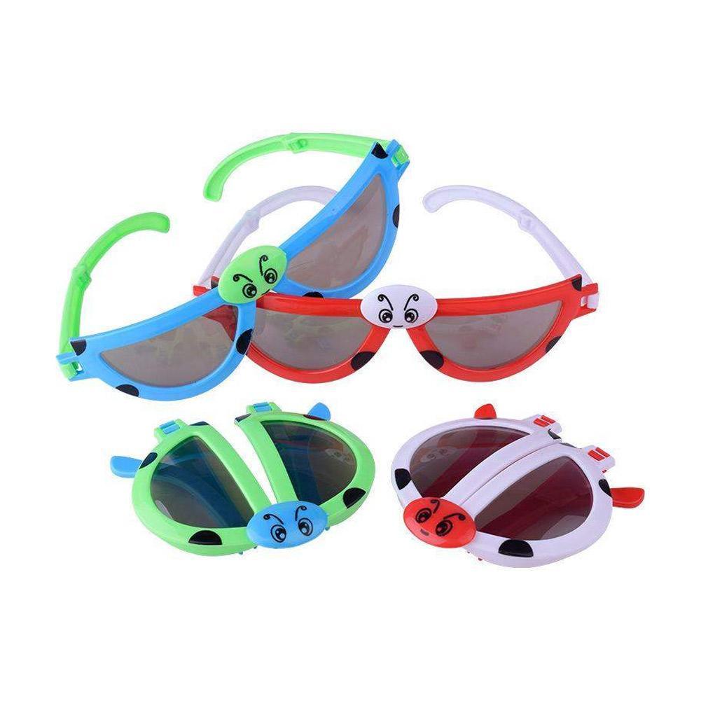 Novelty Foldable Cute ladybug Sunglasses Goggles For Baby Kids Cute  Nice J