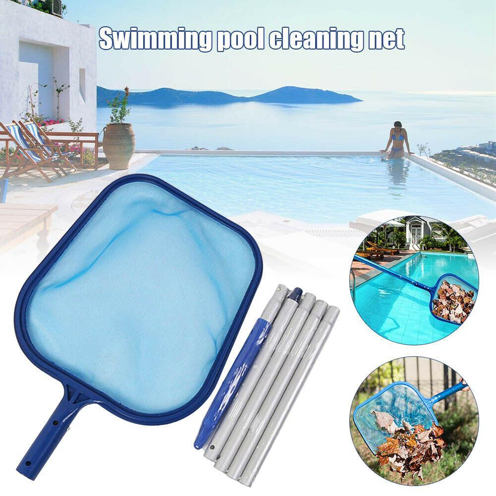 Details zu Swimming Pool Leaf Skimmer Net 5 Connecting Aluminum Pole  Sections Fine Mesh TOP
